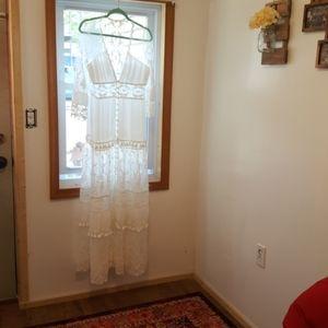White Maxi Long Dress/kimono/robe (Unknown)